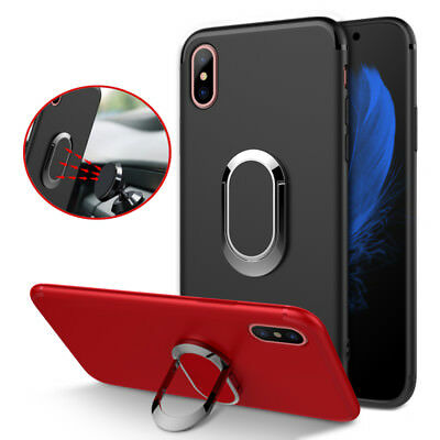 Bakeey 360 Adjustable Metal Ring Kickstand Magnetic Adsorption TPU Case for iPho