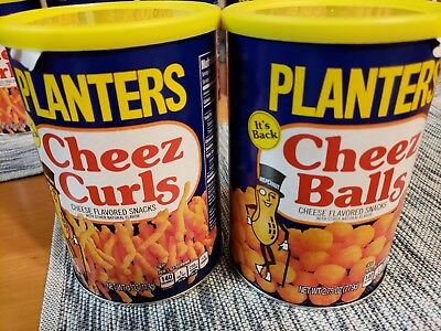 Planters Cheez Curls and Balls Cheese Snack New 2018 Limited Edition 2 full cans