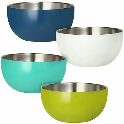 Stainless-Steel Double-Wall Bowl Set 4 Pack - Brand New!