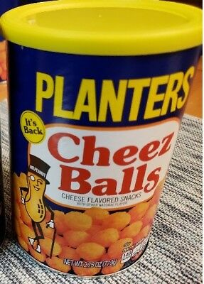 Planters Cheez Balls Cheese Snack New 2018 Limited Edition 1 Full Can