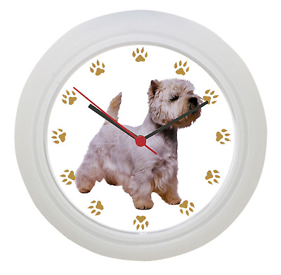 West Highland Terrier Wall Clock! Very Quiet! Battery Operated