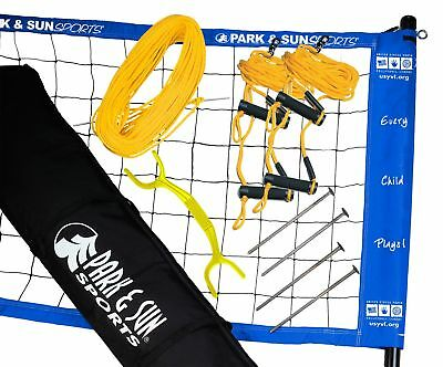Park & Sun Sports Portable Outdoor Youth Volleyball Net System: Official USYVL