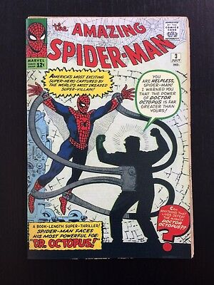 Amazing Spider-Man #3, 1st Dr Octopus! Coverless with reprint cover, read detail