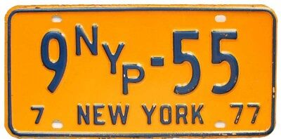 New York 1977 PRESS License Plate Low Number 55 NYP Radio TV Newspaper Reporter