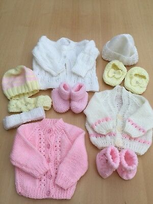 Hand Knitted Baby Bundle - Job Lot - 10 Items -Ideal 4 Table Sale BARGAIN BUY
