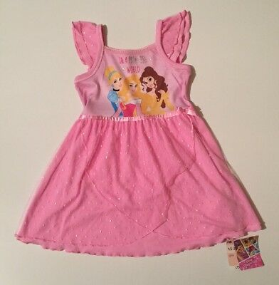 Baby Girls Mothercare Disney Princess Nightie Nightdress Pink Age 18-24 Months