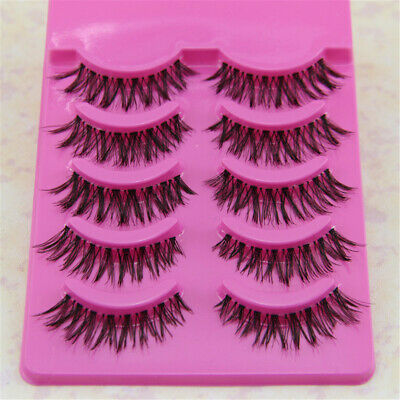 False Eyelashes Set Natural Long Thick Fake Eye Lashes Extension 5 Pairs - S1