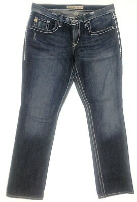 Big Star Distressed Maddie Boot Mid Rise Jeans, Size 29 33x31