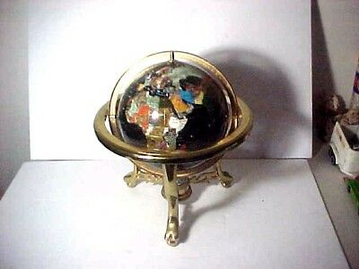 """BRASS STAND GLOBE WITH COMPASS 18"""" Tall  13"""" SPHERE    FOR PICKUP IN CT"""