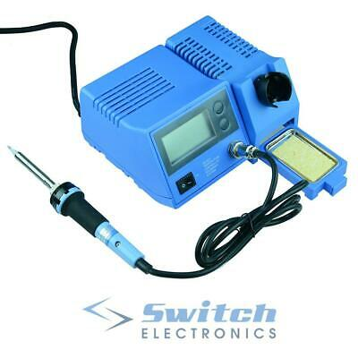 48W Digital Temperature Adjustable ESD Safe Soldering Iron Station Solder
