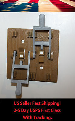 Dual Frankenstein Knife Light Switch Plate Cover Flip Handle Brown