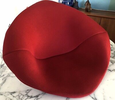 Authentic Knoll Bertoia Diamond Lounge Accent Chair Red Full Cover Only