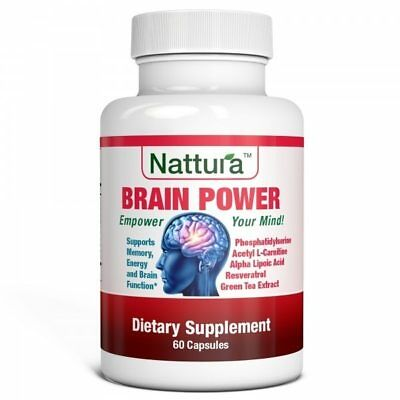 BRAIN POWER - Memory, Energy and Brain Function Support - 60 Capsules