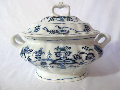 """BLUE DANUBE China Oval Soup TUREEN Pot 12"""" By 10"""""""