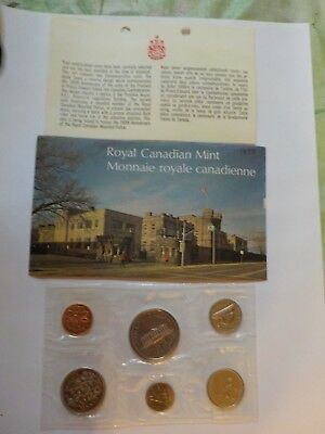 1973 Canadian Coin Set from The Royal Mint with Envelope and Description Card