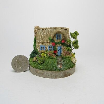 Miniature Handmade CUTE English Rose Fairy Cottage     OOAK by O'Dare