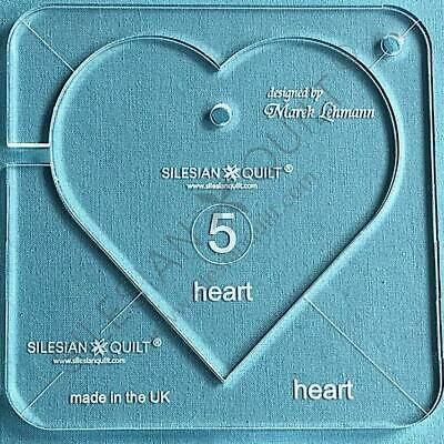 """Template for quilting - Heart 4.5"""" (template fits to FMQ Grip5)"""