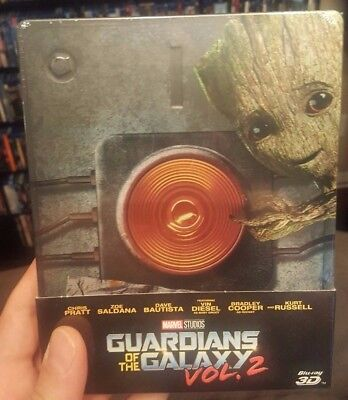 Guardians of the Galaxy Vol 2 - Limited Edition Steelbook (Blu-ray 2D/3D) NEW!