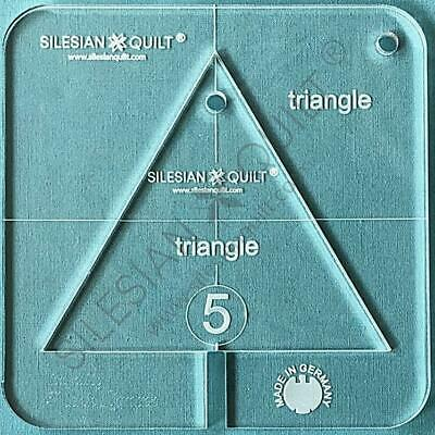 """Template for quilting - Triangle 4.5"""" (template fits to FMQ Grip5)"""