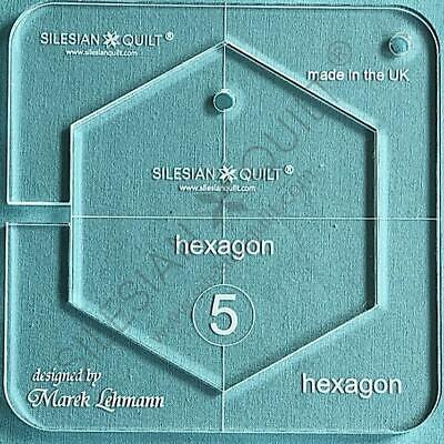 "Template for quilting - Hexagon 4.5"" (template fits to FMQ Grip5)"