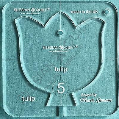 """Template for quilting - Tulip 4.5"""" (template fits to FMQ Grip5)"""