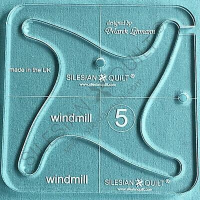 """Template for quilting - Windmill 4.5"""" (template fits to FMQ Grip5)"""