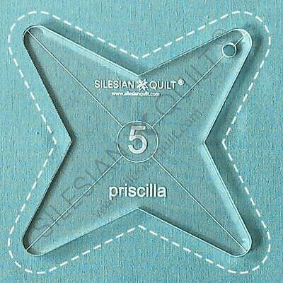 """Template for quilting - Priscilla 4.5"""" (template fits to FMQ Grip5)"""