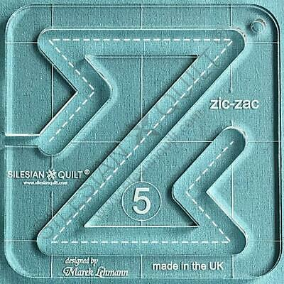 """Template for quilting - Zic-Zac 4.5"""" (template fits to FMQ Grip5)"""
