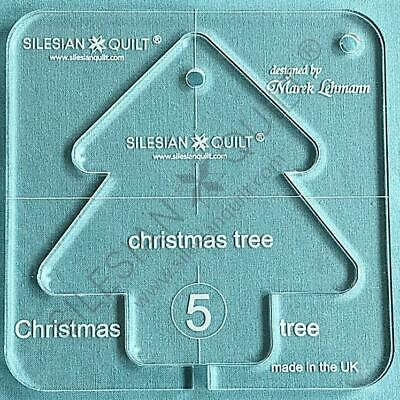 "Template for quilting - Christmas Tree 4.5"" (template fits to FMQ Grip5)"