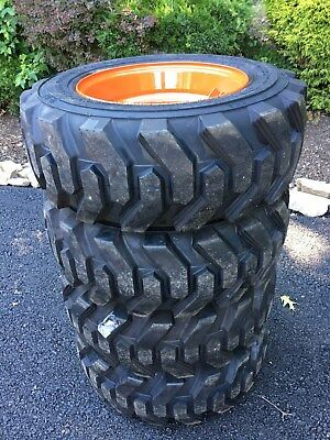 4 NEW 10-16.5 Skid Steer Tires/wheels/rims Camso XtraWall - for Bobcat & others