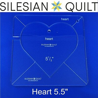 """Template for quilting - Heart 5.5"""" (template fits to FMQ Grip 7)"""