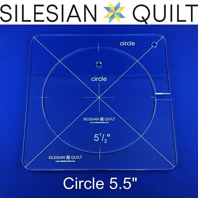 """Template for quilting - Circle 5.5"""" (template fits to FMQ Grip 7)"""