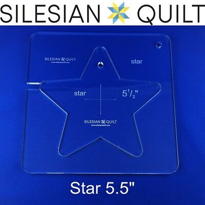 """Template for quilting - Star 5.5"""" (template fits to FMQ Grip 7)"""
