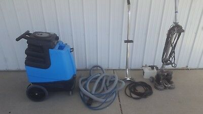 Mytee 1001DX Speedster Deluxe Heated Carpet Extractor w/ hoses + attachments