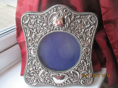 Sterling Silver Photograph Frame - Antique Edwardian - 1906  20 CM BY 18 CM