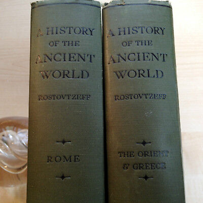 A History Of The Ancient World-Rostovtzeff 2 Vol Illus Classic 1936 2Nd Hb-Nf