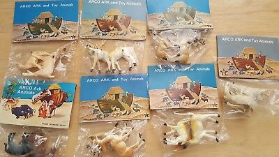 Vintage Noah's Ark Arco Gas Station Premium Animals In Bags, 7 bags