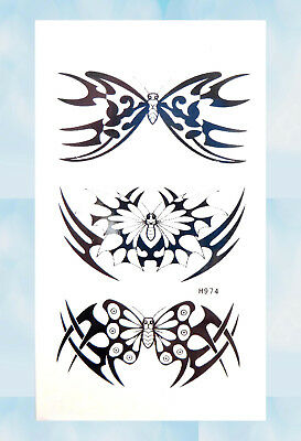 6f44179b7 US Seller- female lower back tribal butterfly tramp stamp temporary tattoo