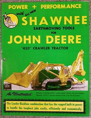 """John Deere Dealer Ad For Shawnee Earth Moving Tools For """"420"""" Crawler Tractors"""