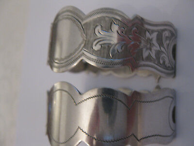 Pair of Rare Elegant Vintage Silver Plated Napkin holders by J.H.P