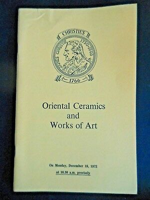 Christie's Auction Catalog Carved Oriental Chinese Ceramics Snuff Bottles 1972
