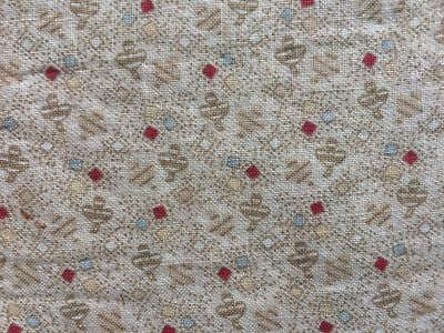 Back In Time Textiles~Antique 1860-70 ditsy fabric 12 small pieces ~