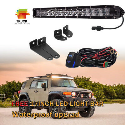 """17''inch 80W LED WORK LIGHT BAR SINGLE ROW ATV OFFROAD JEEP TRUCK FORD Boat 18"""""""