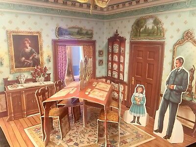 Lot Of Victorian Dollhouse Pop Up Book And Paper Dolls Old Fashioned