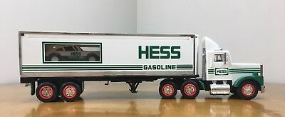 1992 HESS Toy Truck Hauler & Racer - Pre-Owned No Box