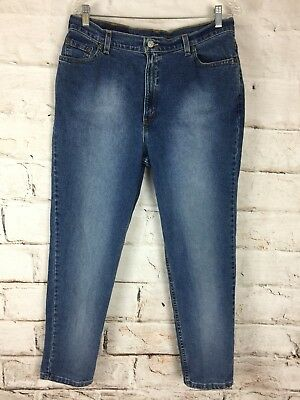Vtg 90s 00s Womens Levis 512 Jeans 14 High Waist 32x29 Tapered Slim Fit Stretch