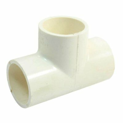 40mm x 40mm White PVC-U 3Way Plain Equal Tee Connect Pipe Tube Adapter N2A1