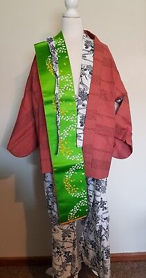 Authentic Japanese Kimono With All Accessories