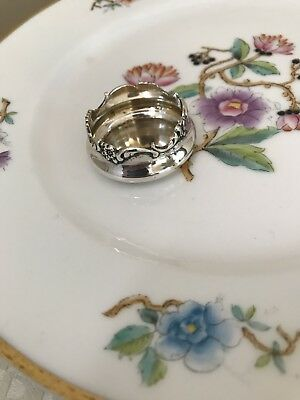 Shiebler Floral Sterling Silver Salt Cellar No Mono #1