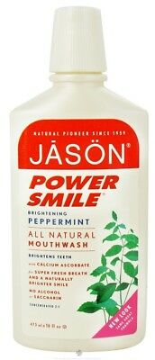 JASON Natural Products - Mouthwash Power Smile Super Refreshing Peppermint - 16